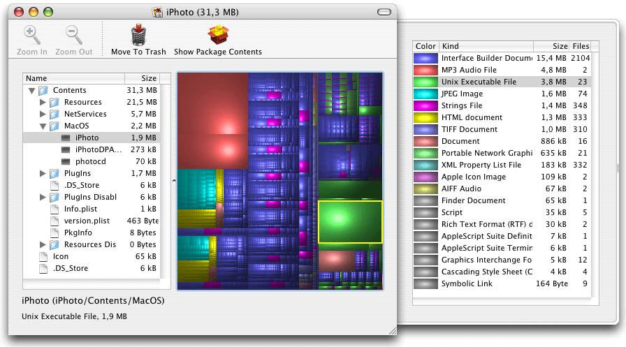 برنامج Disk Inventory X